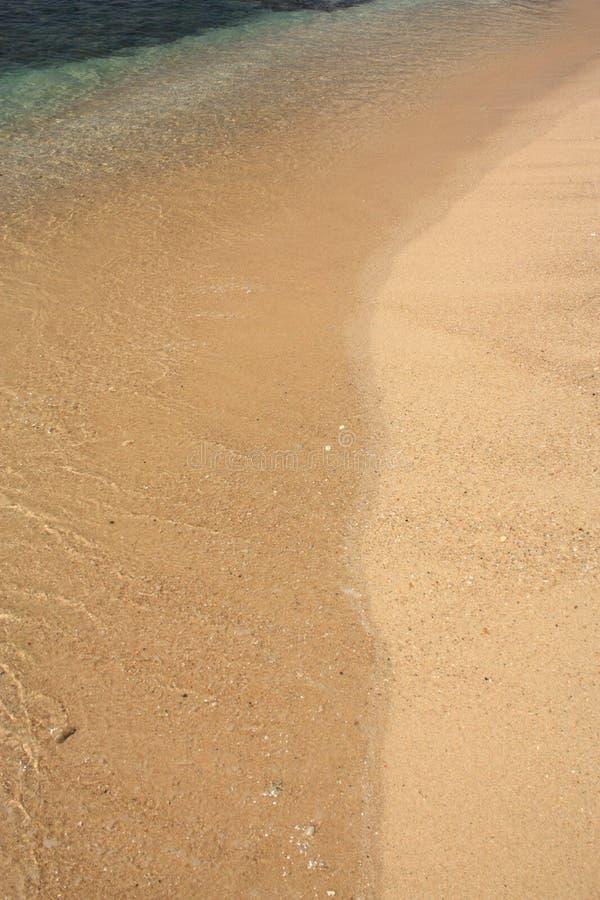 Ondas na praia tropical fotos de stock royalty free