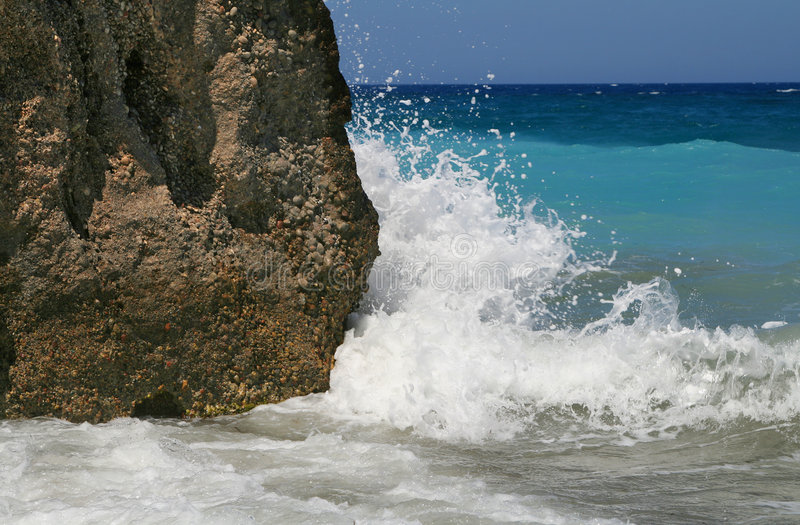 Ondas no mar imagens de stock royalty free