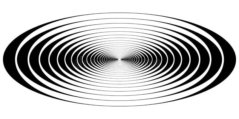 Ondas ovales de la resonancia del círculo concéntrico stock de ilustración