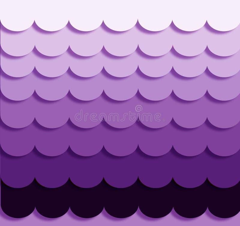 Ondas púrpuras de Ombre imagenes de archivo