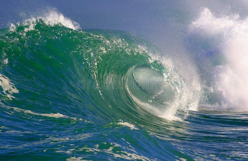 Ondas que practican surf Hawaii fotos de archivo libres de regalías