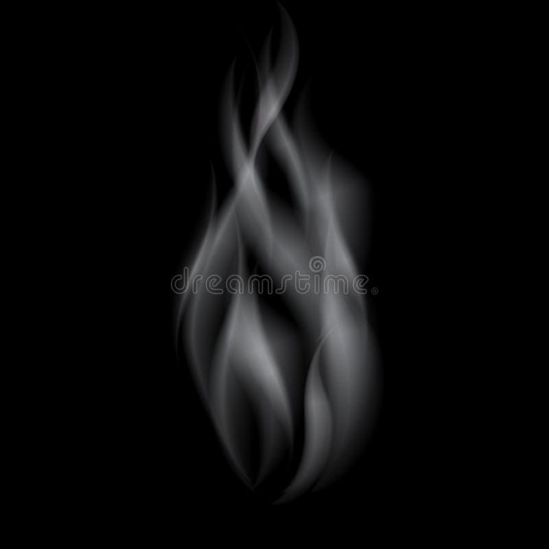 Ondas realistas blancas delicadas del humo del cigarrillo libre illustration