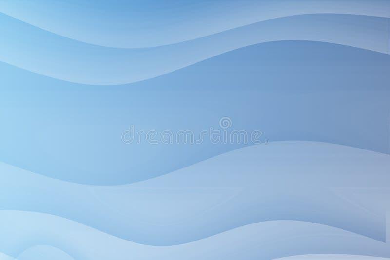 Ondas reconfortantes de fluxo do azul ilustração stock