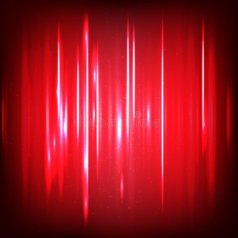 Ondas sadias digitais abstratas com partículas de fluxo Fundo do Cyber ou da tecnologia ilustração royalty free