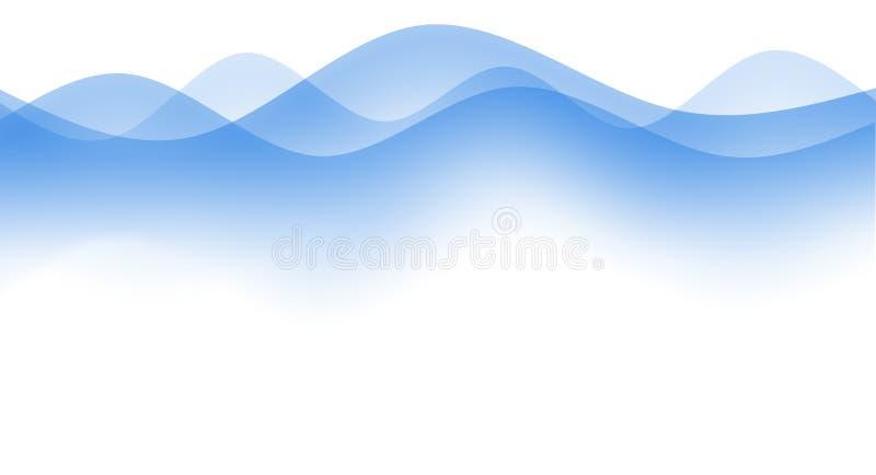 Ondas simples ilustração stock