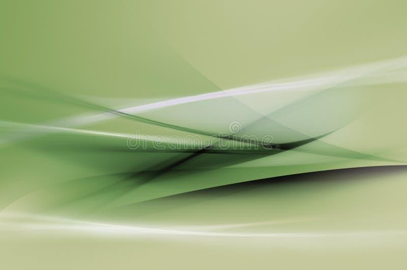 Ondas verdes abstractas o textura del fondo de los velos stock de ilustración