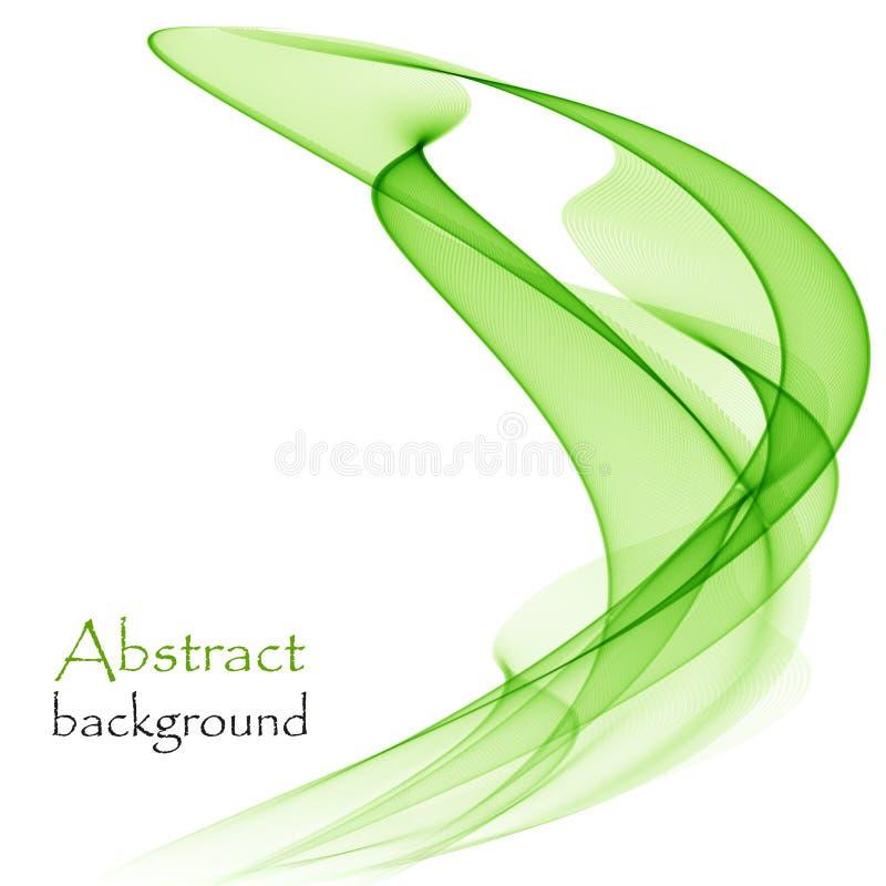 Ondas verdes abstratas em um fundo branco ilustração stock