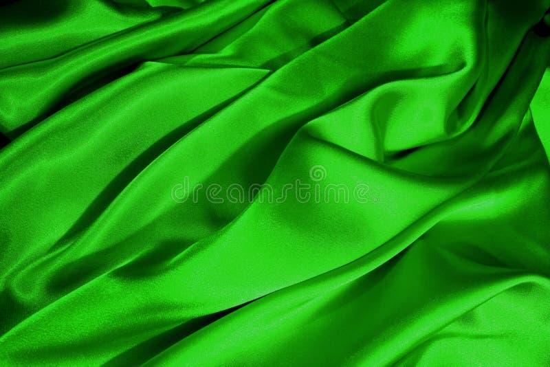 Ondas verdes do cetim imagens de stock royalty free