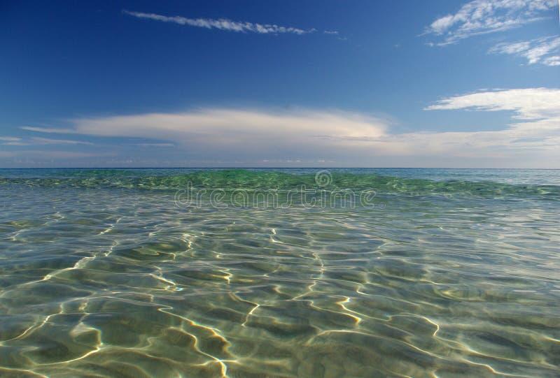 Onde alla spiaggia di S.Margherita fotografie stock libere da diritti
