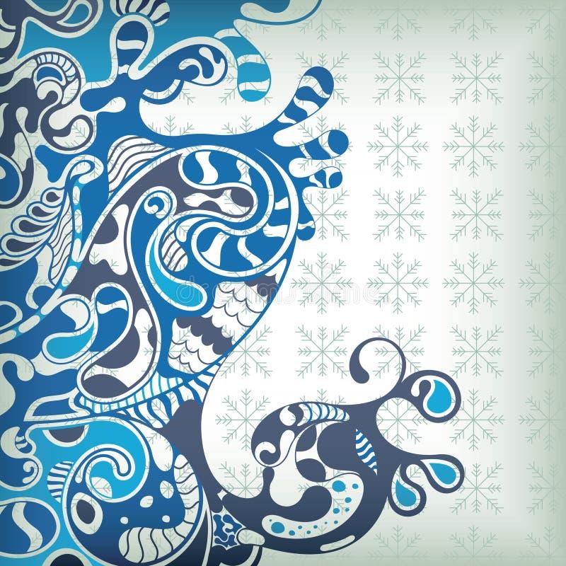 Onde astratte dell'azzurro royalty illustrazione gratis