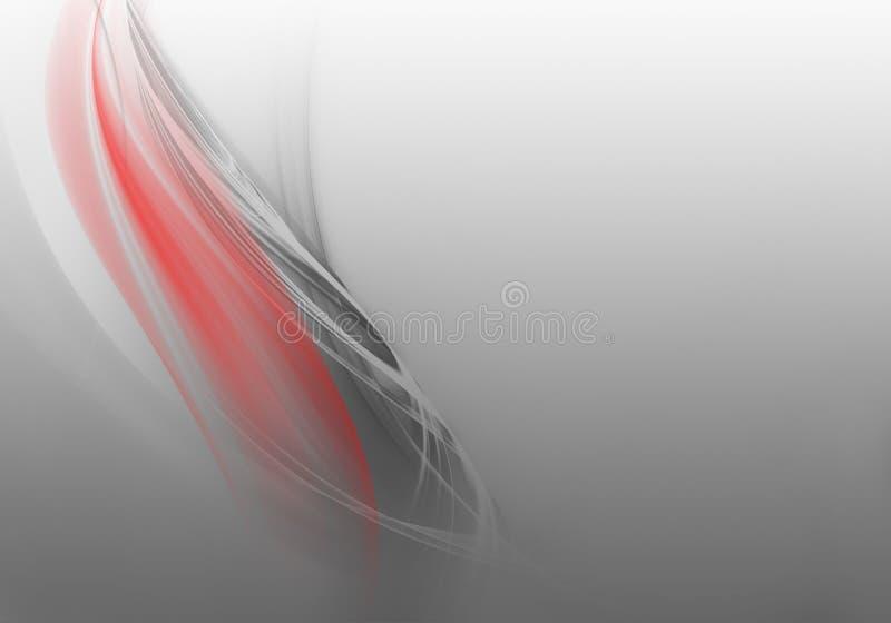 Onde astratte della priorità bassa Bianco, grey e rosso royalty illustrazione gratis