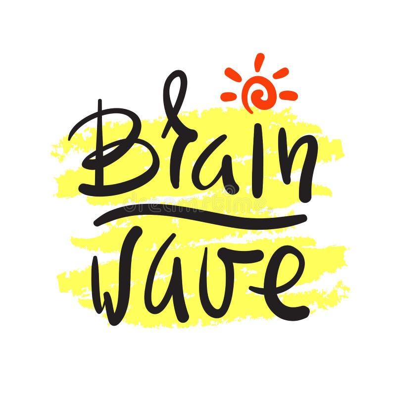 Onde cérébrale - simple inspirez et citation de motivation Beau lettrage tiré par la main illustration de vecteur