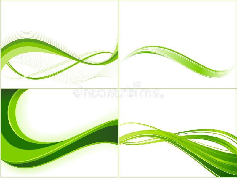 onde de descripteurs de vert d'écologie de fond illustration stock