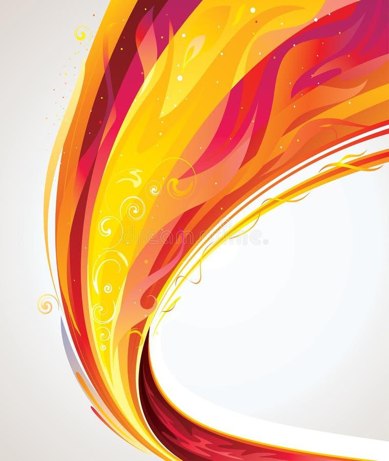 Onde de flamme illustration de vecteur