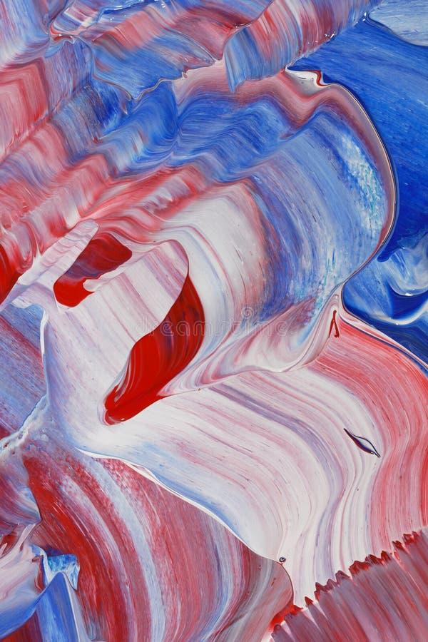 Onde del blu e di rosso fotografie stock