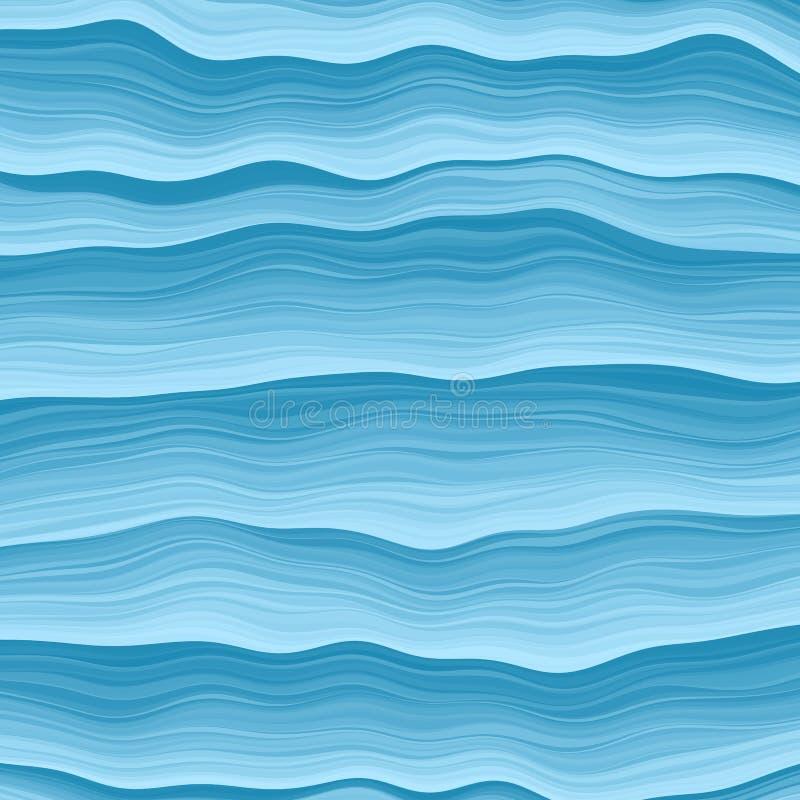 Onde del mare Fondo astratto di creatività di progettazione delle onde blu Illustrazione di vettore illustrazione vettoriale