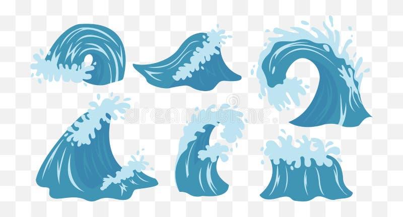 Onde del mare Oceano Wave illustrazione di stock