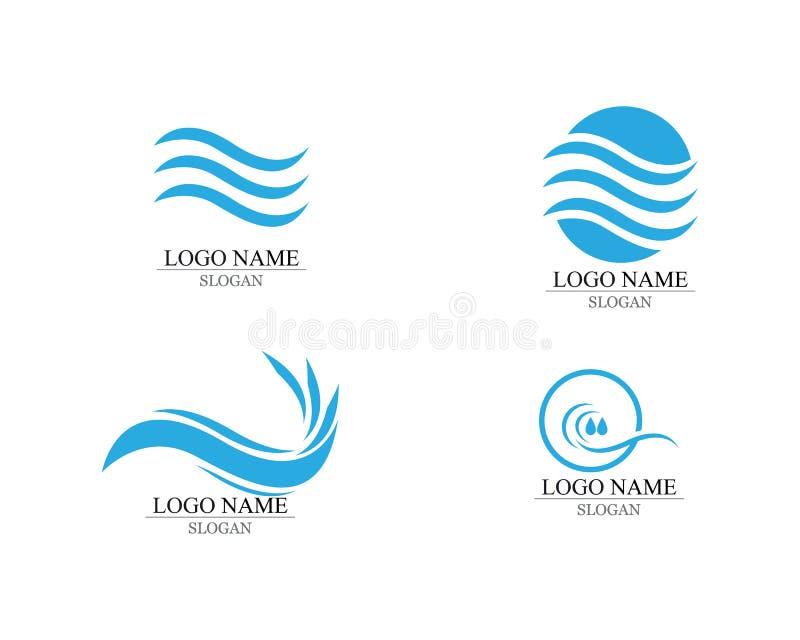 Onde delle onde di oceano o del mare, dell'acqua blu, della spruzzata e del vento fortissimo, vettore illustrazione vettoriale