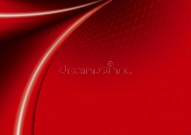 Onde di colore rosso fotografia stock