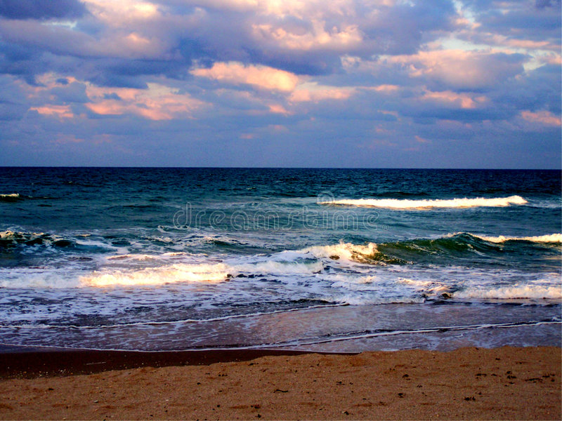 Onde di oceano della spiaggia di Jensen fotografia stock libera da diritti