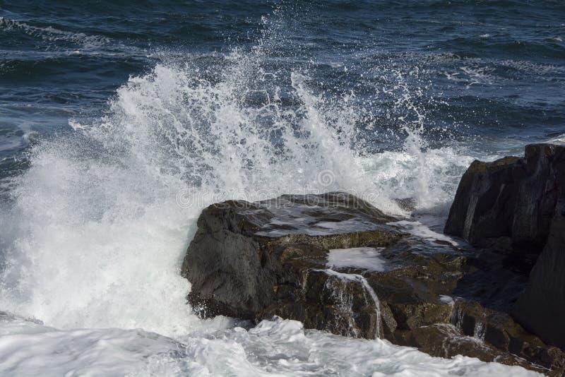Onde e rocce nel Mar Nero fotografia stock