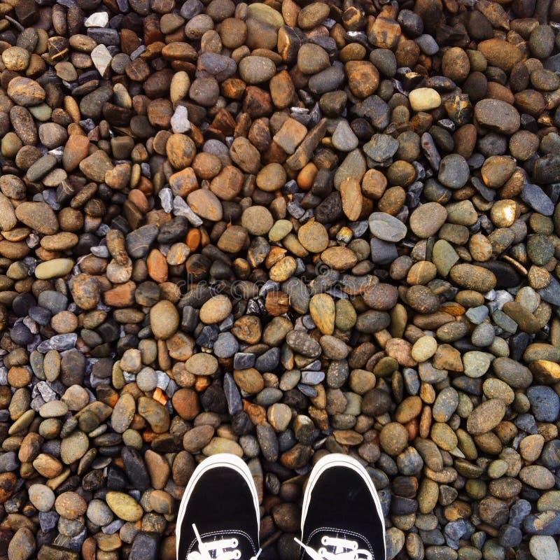 Onde eu estou: rochas foto de stock