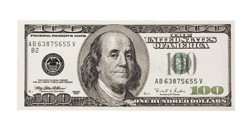 Onde hundred dollars stock photo