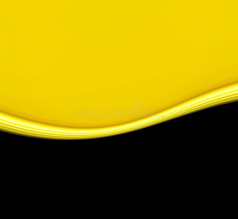 Onde jaune sur le noir illustration de vecteur