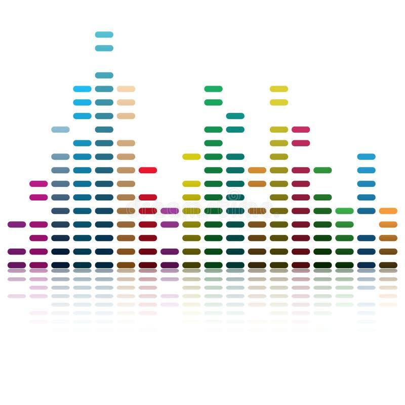 Onde musicali illustrazione di stock