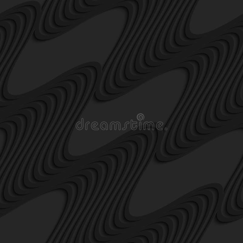 Onde nere della diagonale 3d illustrazione di stock