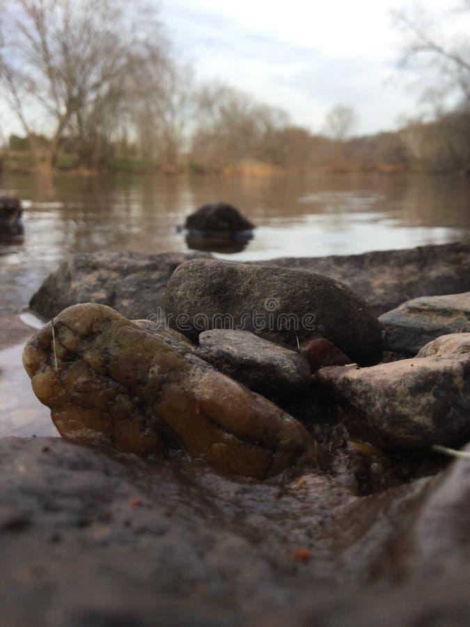 Onde o rio se dobra fotos de stock