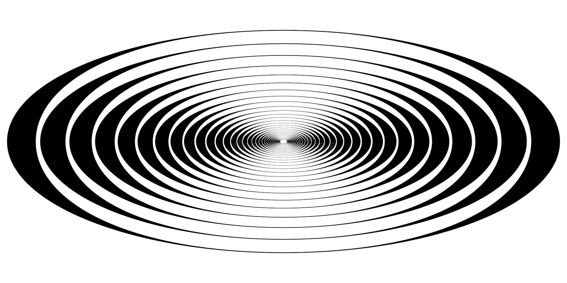 Onde ovali di risonanza del cerchio concentrico illustrazione di stock
