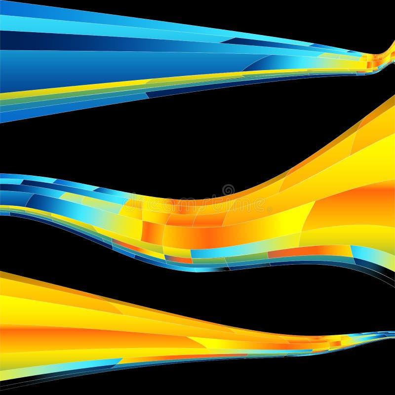 Onde rougeoyante de mosaïque d'énergie illustration libre de droits