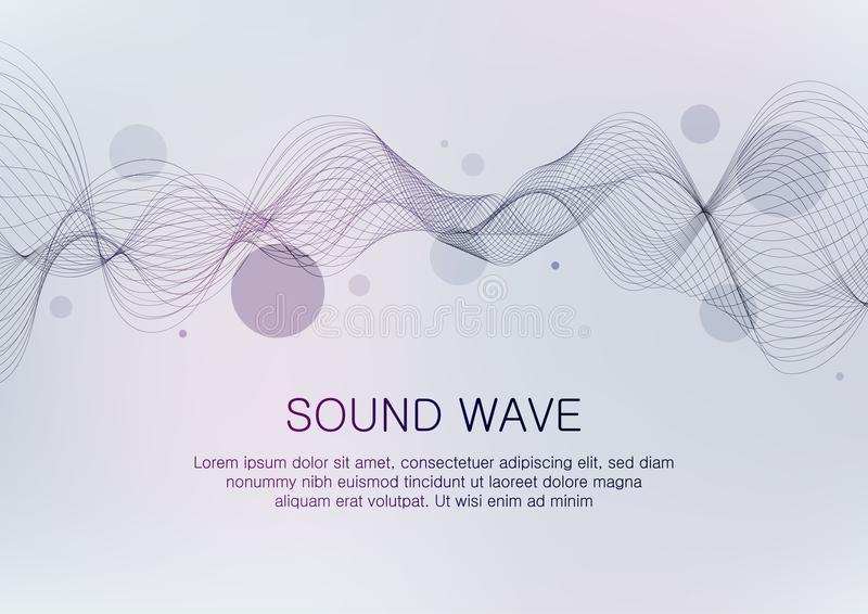 Onde sonore illustration stock
