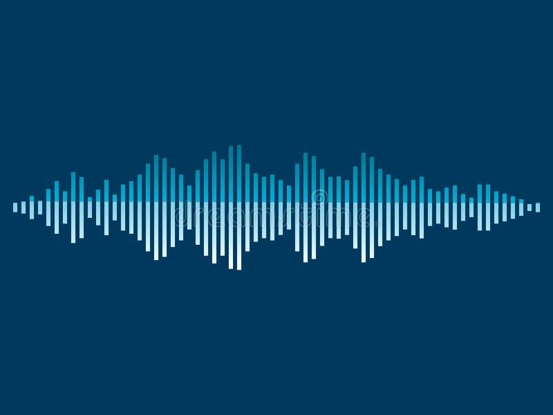 Onde sonore abstraite de musique de fond Illustration de vecteur illustration stock
