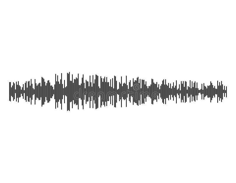 Onde sonore D'isolement sur le fond blanc Illustration de vecteur illustration stock