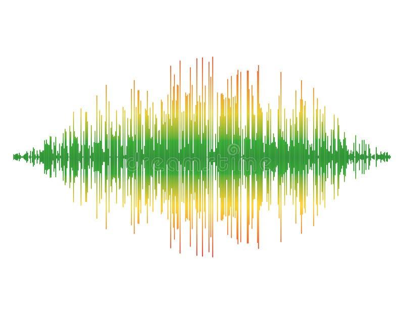 Onde sonore D'isolement sur le fond blanc Illustration de vecteur illustration de vecteur