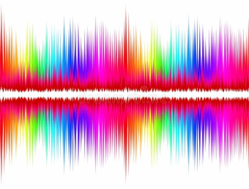 Onde sonore de couleur illustration de vecteur