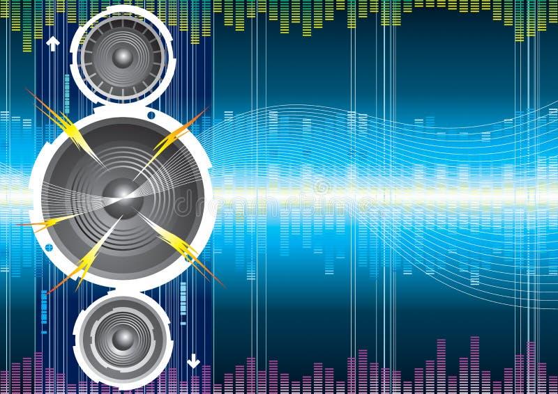 Onde sonore de haut-parleur illustration libre de droits