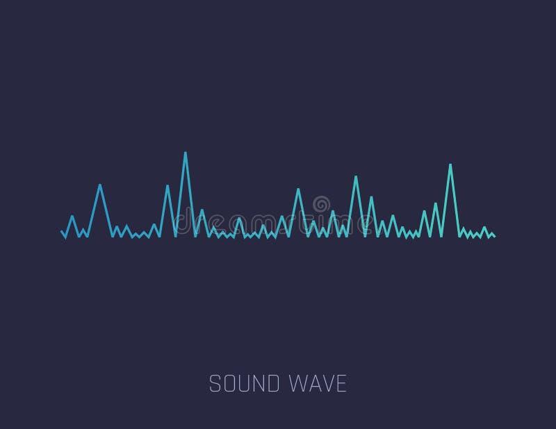 Onde sonore de vecteur Ondes sonores colorées pour la partie, DJ, bar, clubs, discos Technologie audio d'égaliseur Vecteur illustration stock