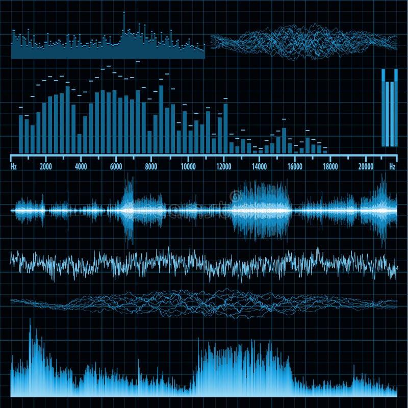 Onde sonore impostate. Priorità bassa di musica. ENV 8 royalty illustrazione gratis