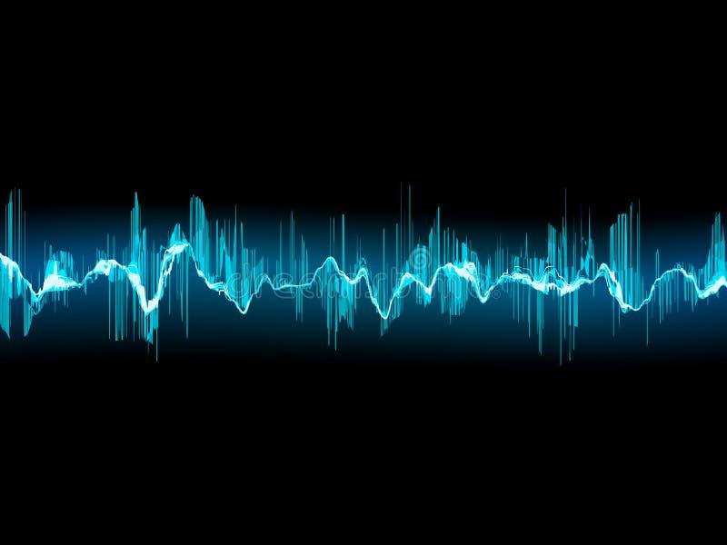 Onde sonore lumineuse sur un bleu-foncé. ENV 10 illustration libre de droits