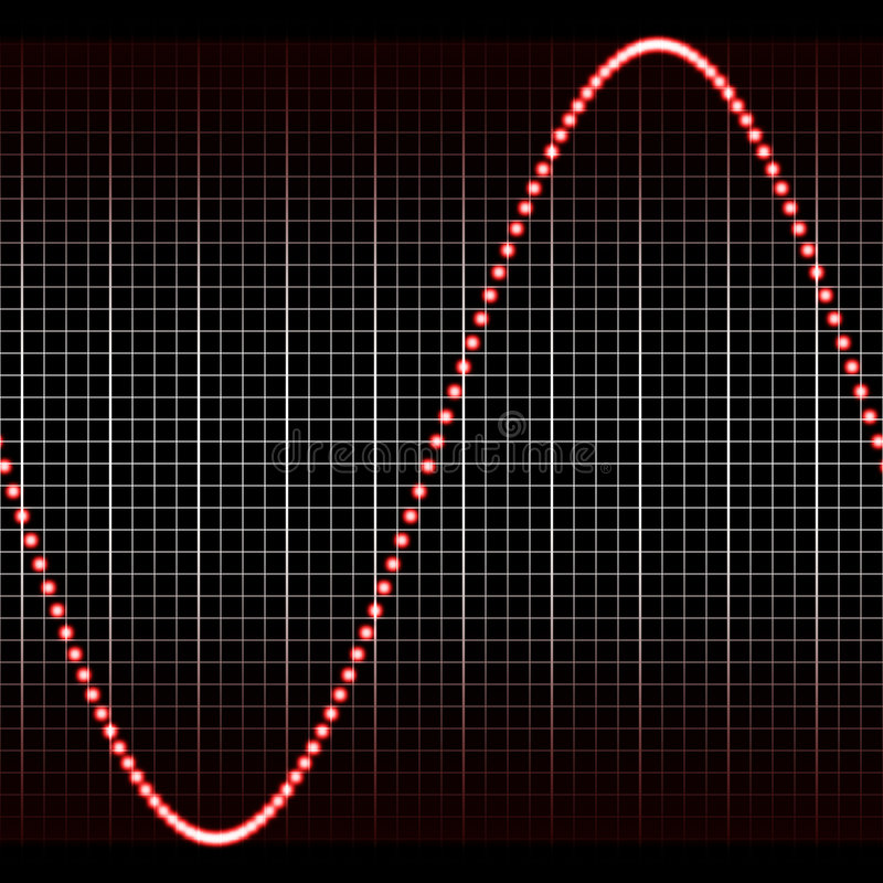 Onde sonore rouge simple illustration de vecteur