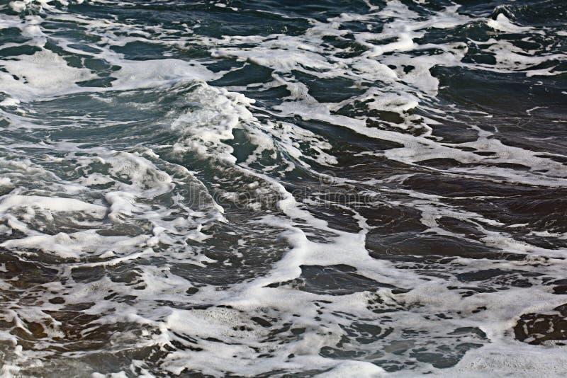 onde spumose del mare immagini stock libere da diritti