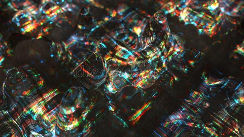 Onde tremule con la rappresentazione di effetto 3D di impulso errato illustrazione vettoriale