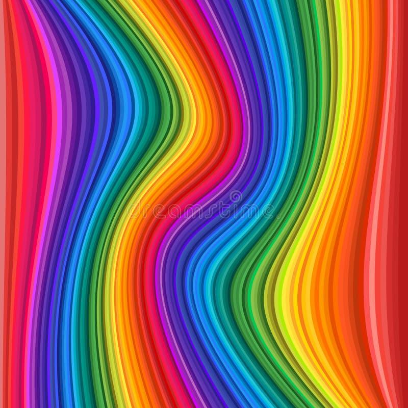 Onde variopinte astratte dell'arcobaleno Illustrazione di vettore royalty illustrazione gratis