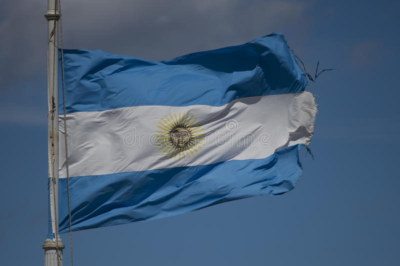 Ondeggiamento argentino della bandiera fotografie stock libere da diritti
