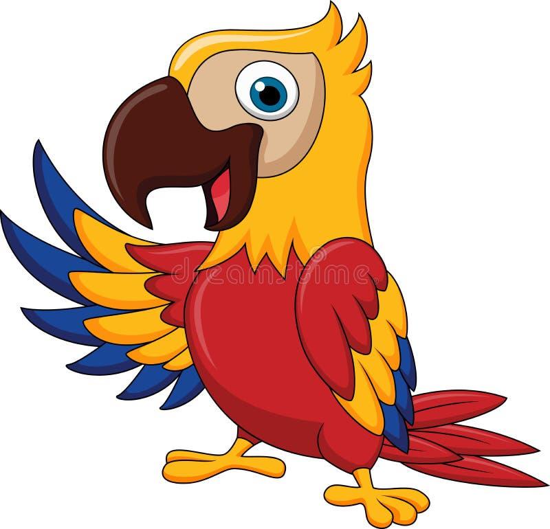 Ondeggiamento del fumetto dell'uccello dell'ara royalty illustrazione gratis
