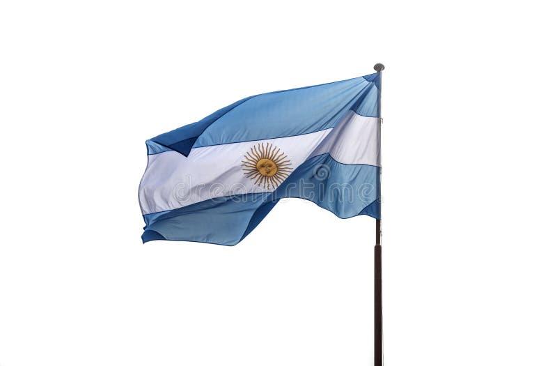 Ondeggiamento della bandiera dell'Argentina immagini stock libere da diritti