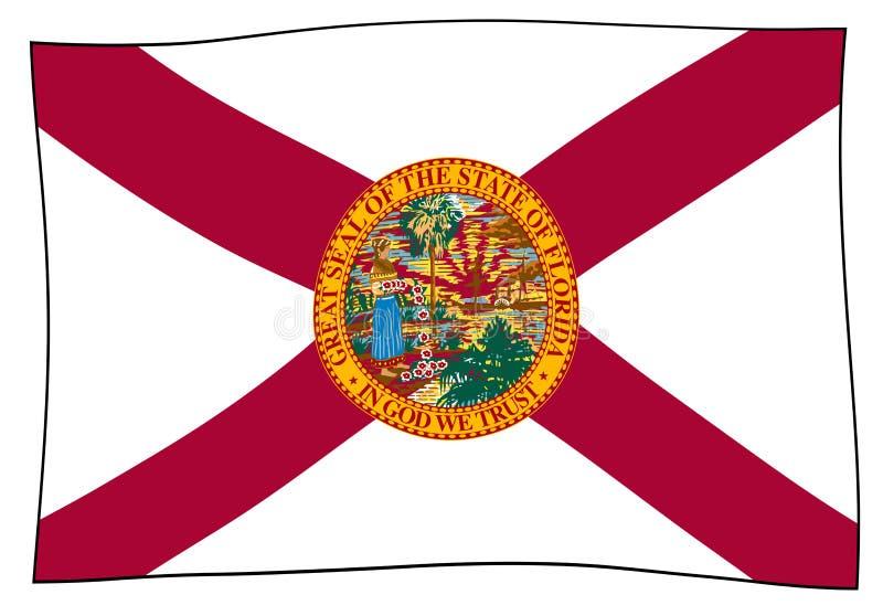 Ondeggiamento della bandiera dello stato di Florida illustrazione di stock
